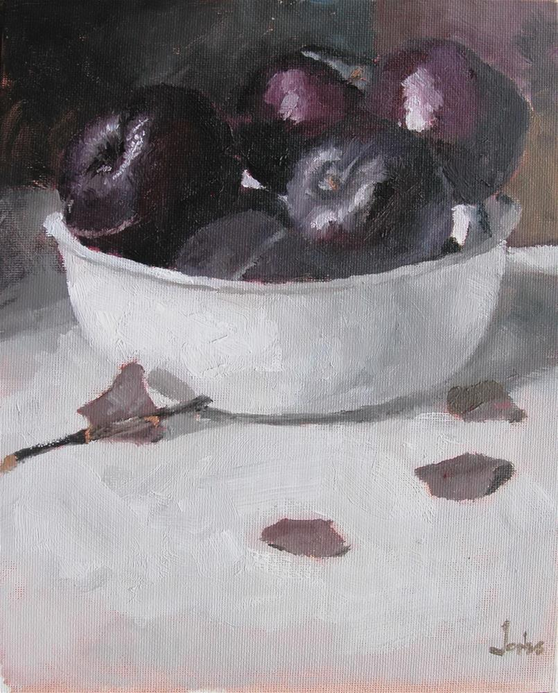 """Bowl of Plums"" original fine art by Richard Jones"