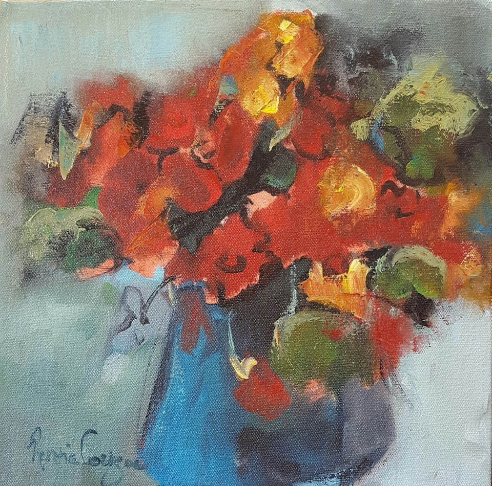 """Playing with primaries"" original fine art by Rentia Coetzee"