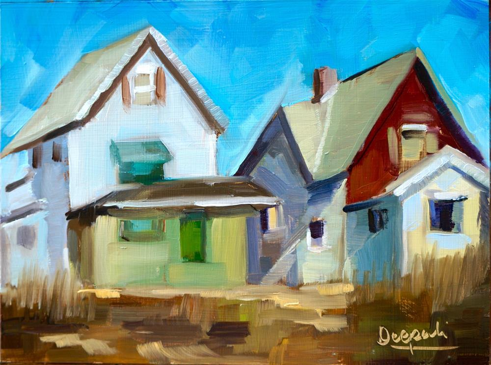 """HOUSES"" original fine art by Dipali Rabadiya"