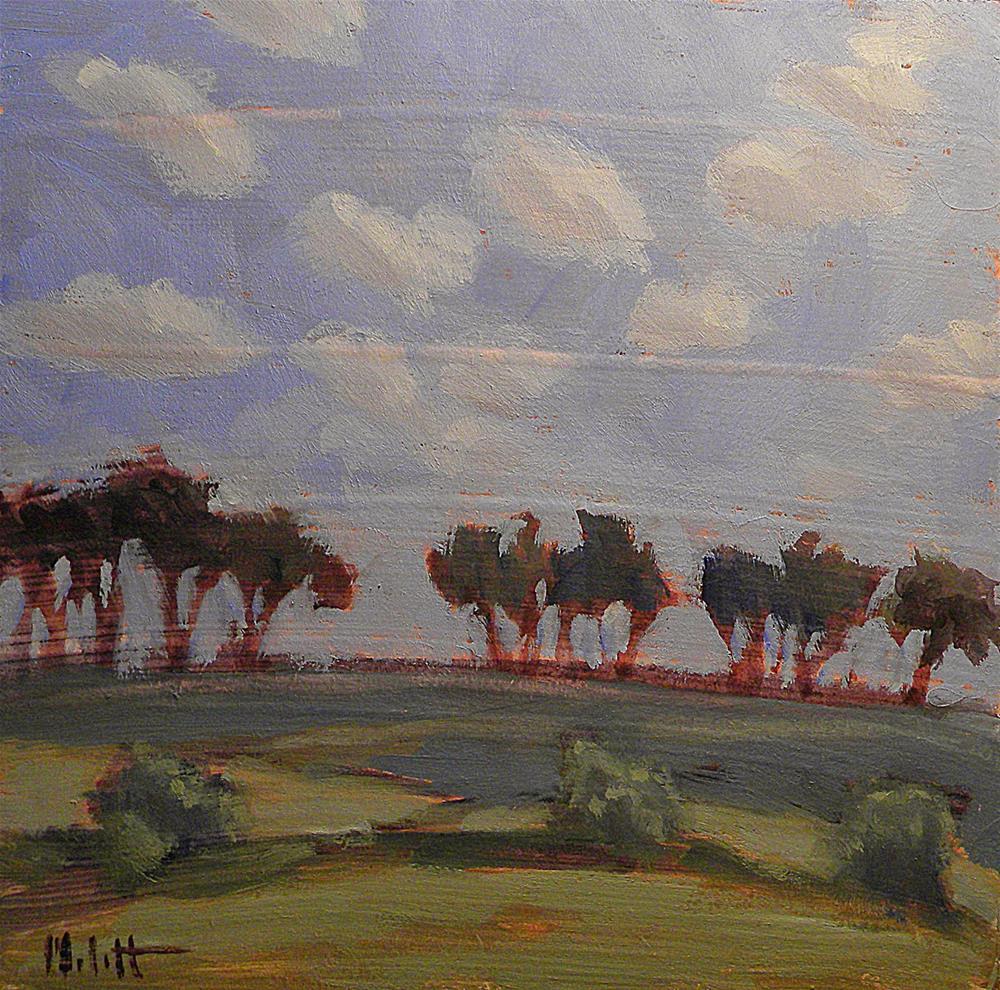 """Dancing Trees Contemporary Landscape Daily Oil Painting"" original fine art by Heidi Malott"
