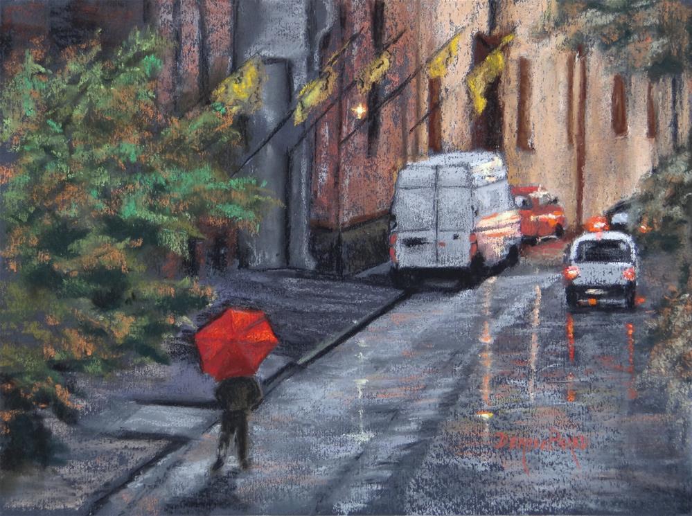 """""""Ombrello Rosso"""" original fine art by Denise Beard"""