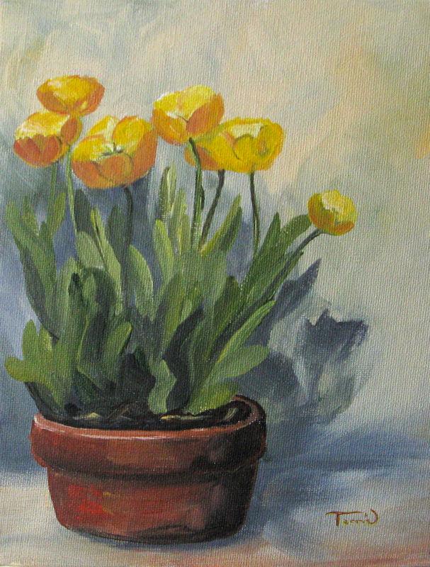 """Yellow Tulips"" original fine art by Torrie Smiley"