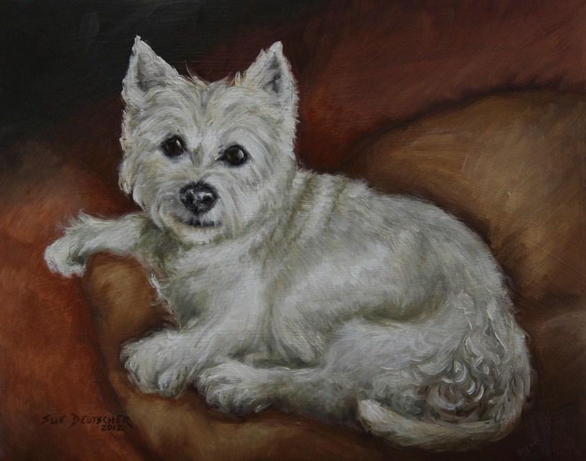 """""""Westie"""" original fine art by Sue Deutscher"""