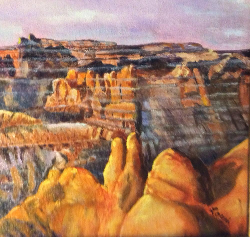 """Badlands-Angel Peak"" original fine art by Charlotte Lough"