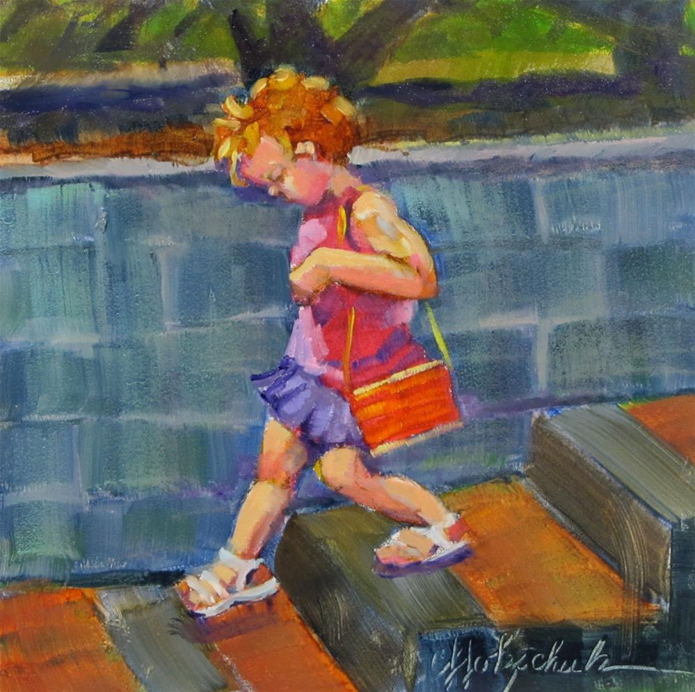 """Going Shopping"" original fine art by Christine Holzschuh"