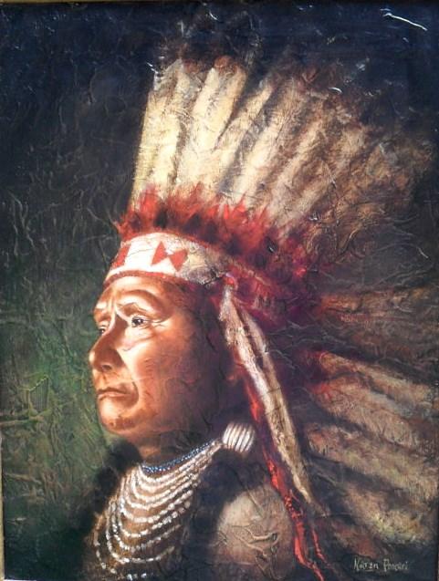 """Chief Joseph"" original fine art by Karen Roncari"