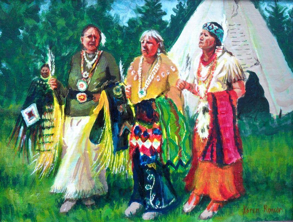 """Powwow Patty"" original fine art by Karen Roncari"