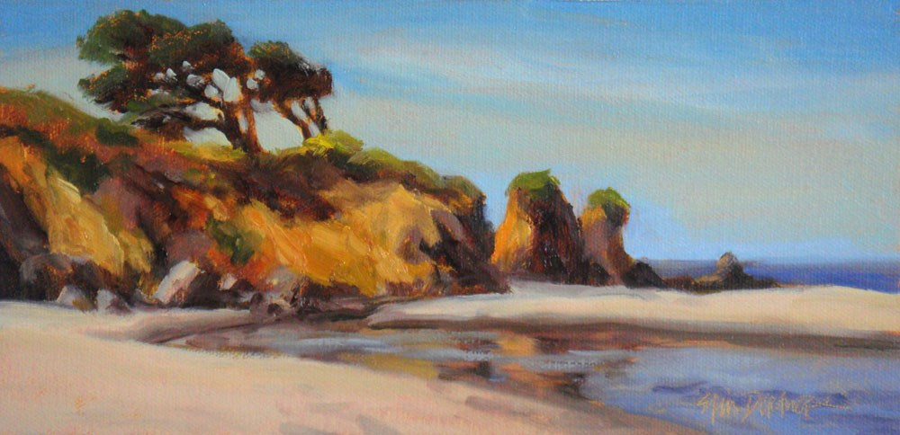 """Hare Creek Beach"" original fine art by Erin Dertner"