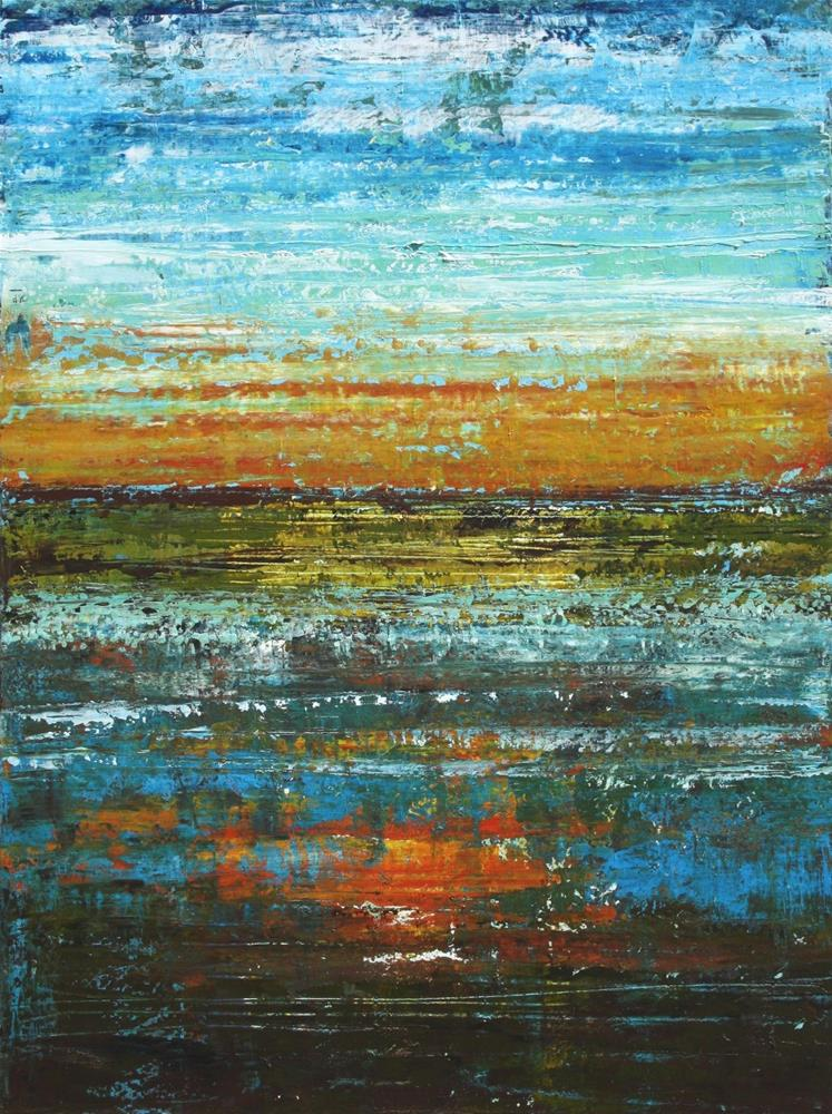 """Fire Lake"" original fine art by Sage Mountain"