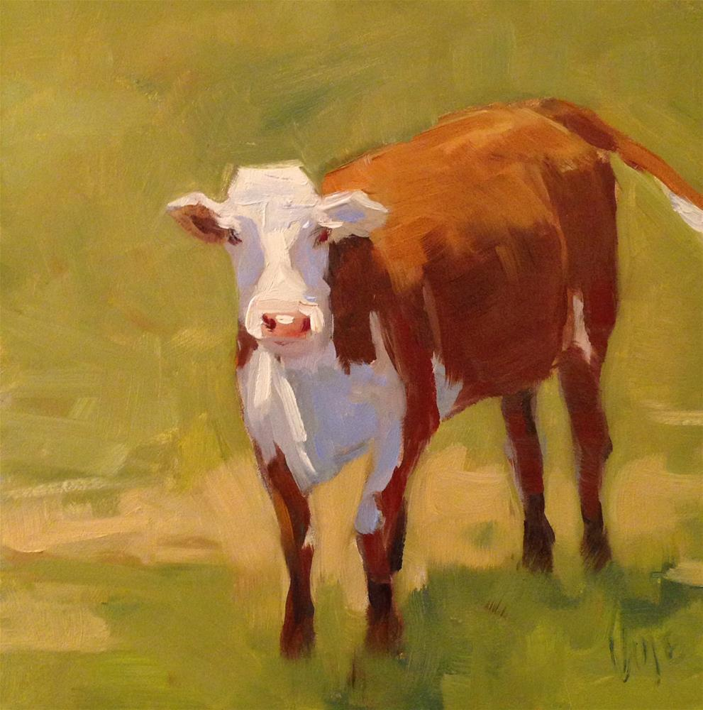"""#25 Tiny Cow"" original fine art by Patty Voje"