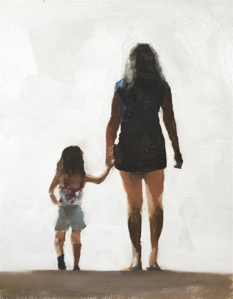 """Mother and Daughter"" original fine art by James Coates"
