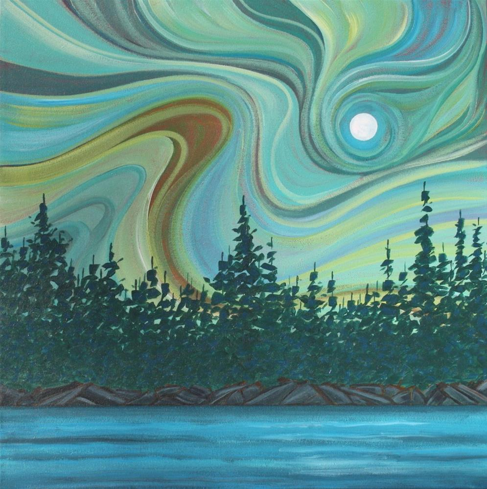 """Colour of the Wind: Tree Line"" original fine art by Sage Mountain"