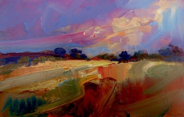 """Harvest Sun"" original fine art by Anne Wood"