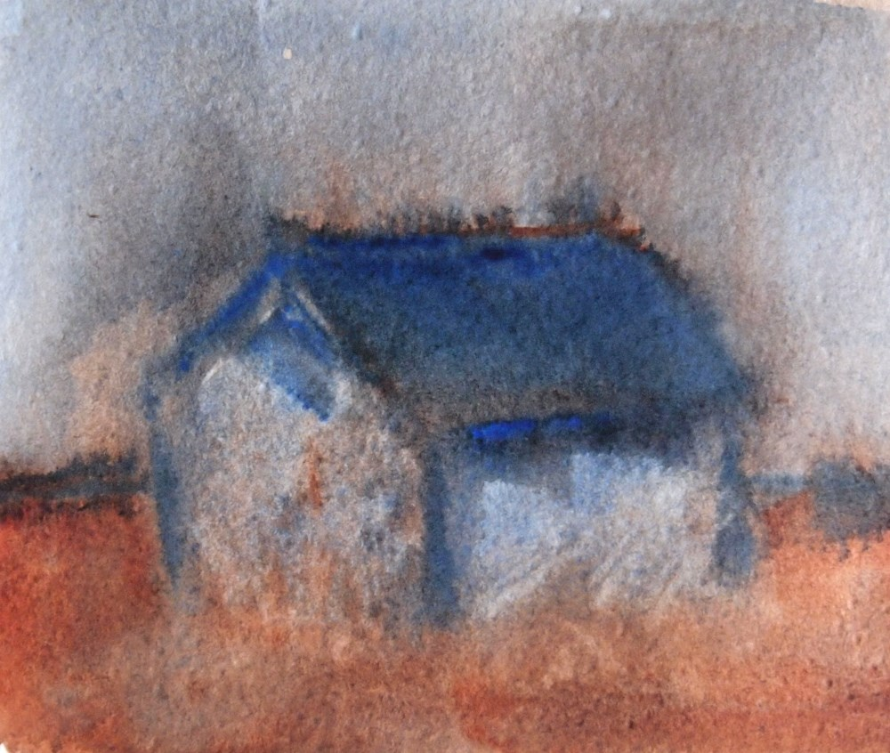"""Two Color Barn"" original fine art by Amy Bryce"