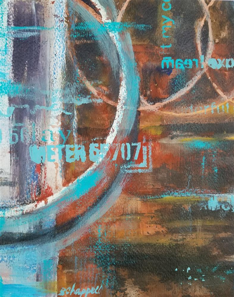 """""""Round and Round"""" original fine art by Becky Chappell"""
