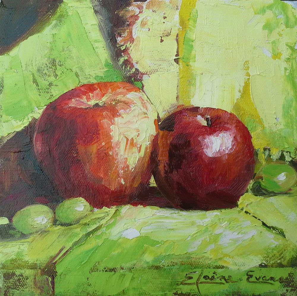 """Apples"" original fine art by Elaine Evans"