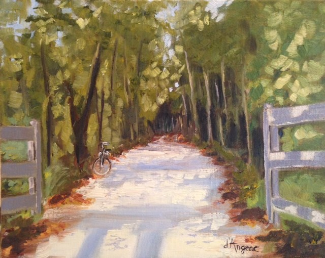 """Tobacco Trail II"" original fine art by Karen D'angeac Mihm"