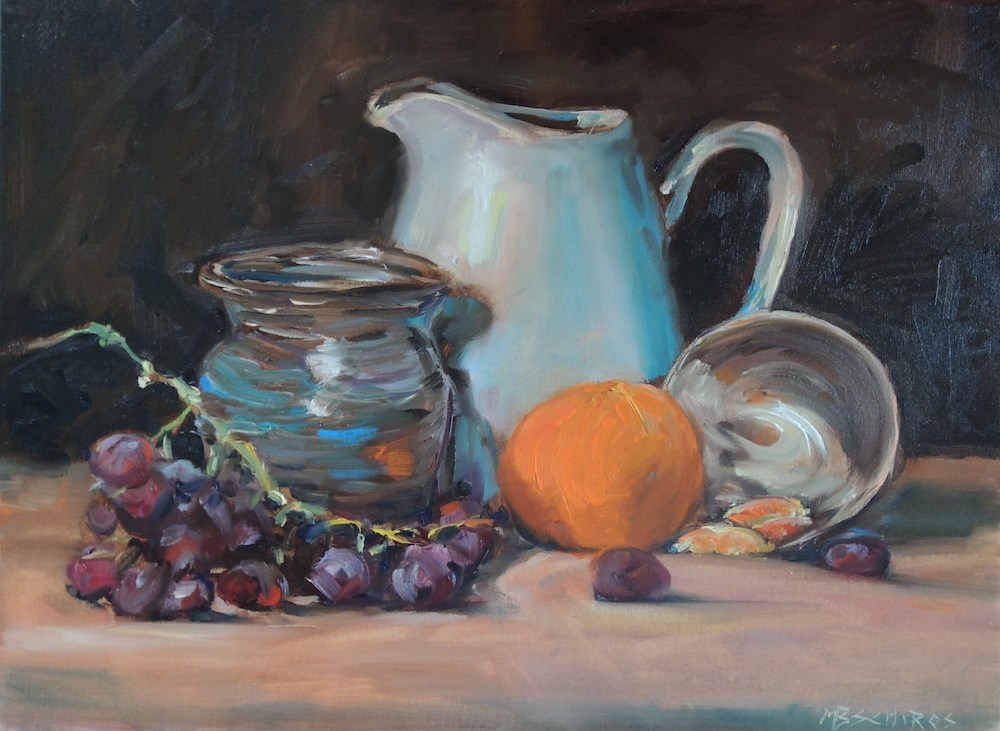 """Table Top"" original fine art by Mary Schiros"