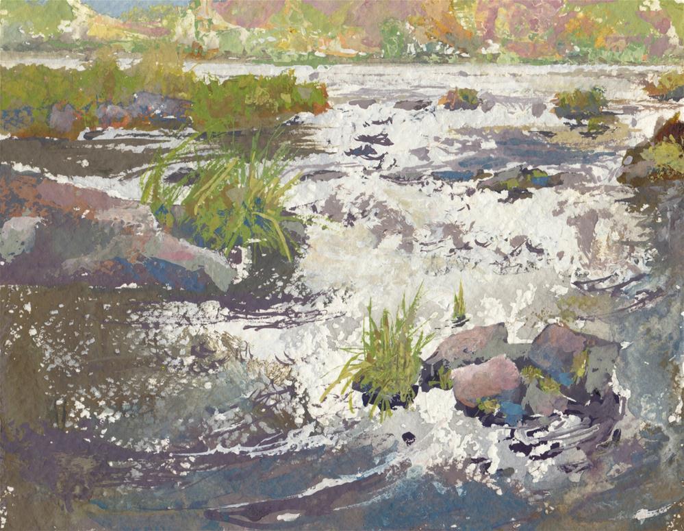 """Cow Creek"" original fine art by Vinita Pappas"