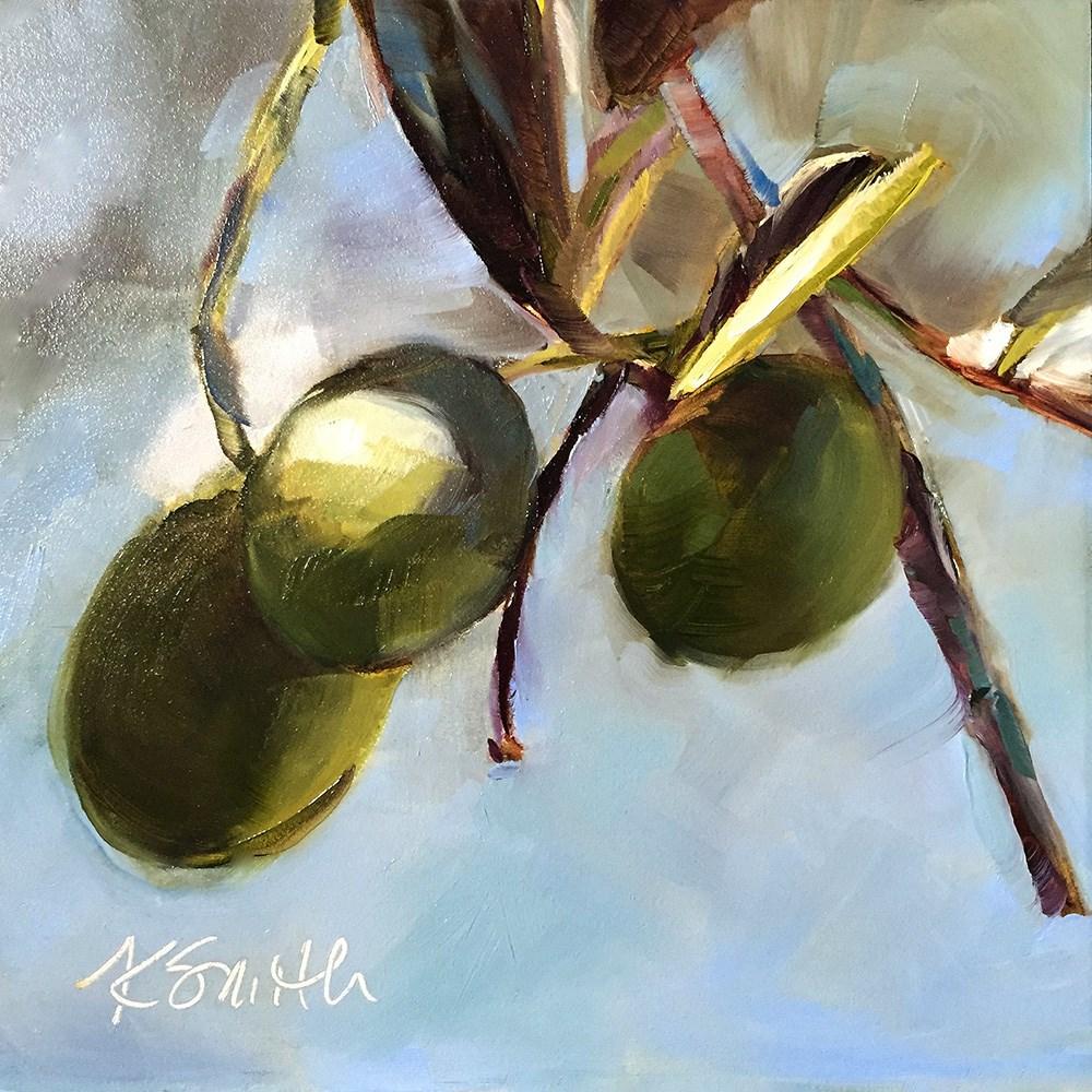 """olives"" original fine art by Kim Smith"