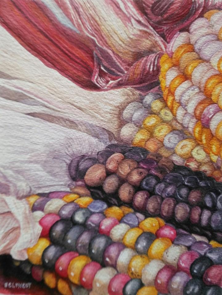 """Indian Corn"" original fine art by Elaine Lynest"