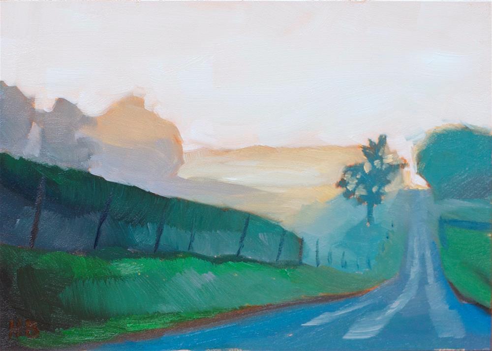 """Morning Mist"" original fine art by Heather Bullach"