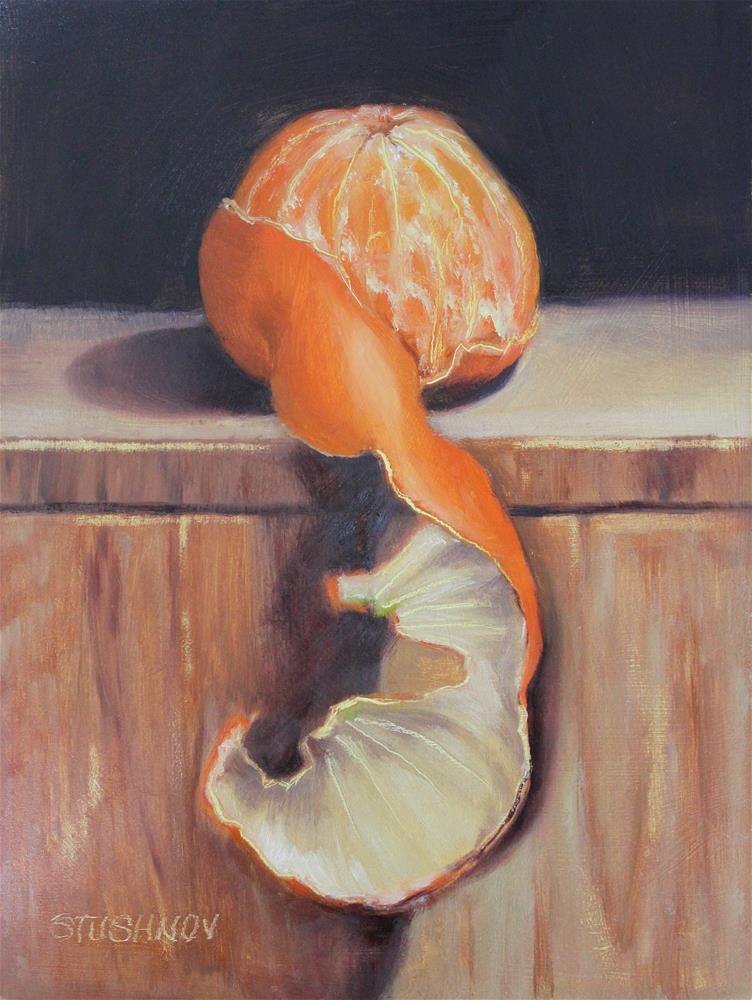 """My Darling Clementine"" original fine art by Sharlene Stushnov-Lee"