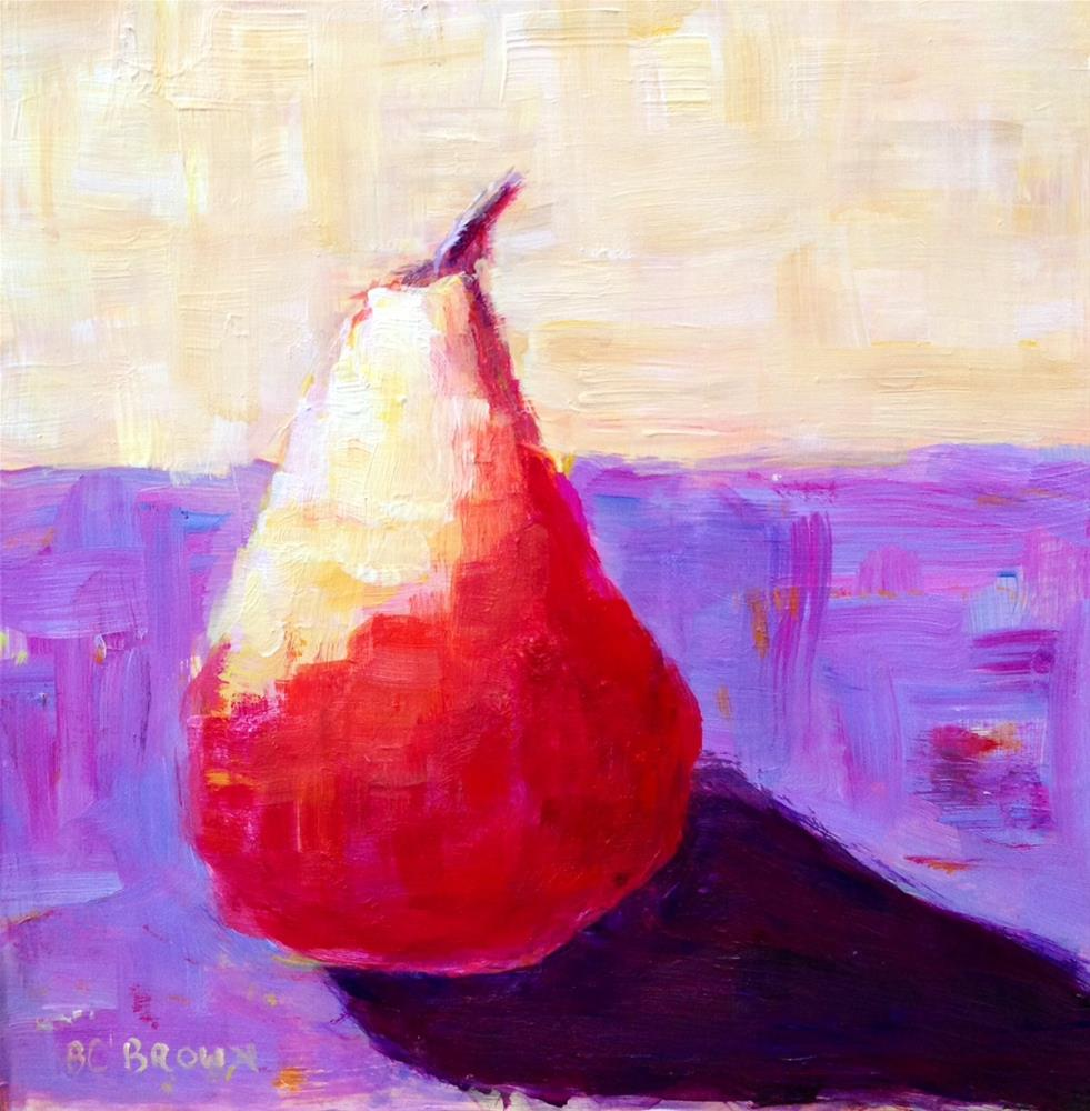 """Hot Pear!"" original fine art by Beth Carrington Brown"