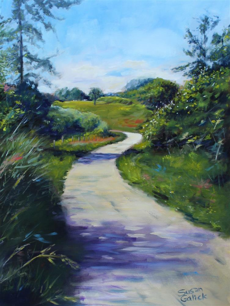 """Fort to Fort Walking Trail"" original fine art by Susan Galick"