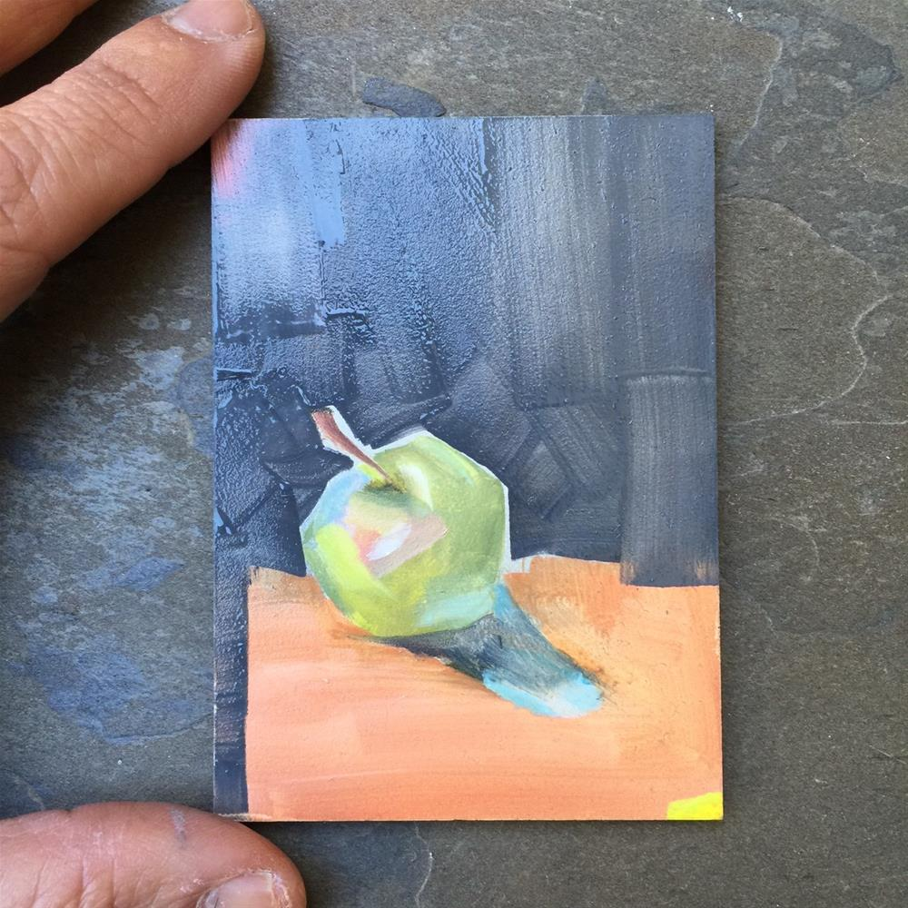 """202 Granny Smith"" original fine art by Jenny Doh"