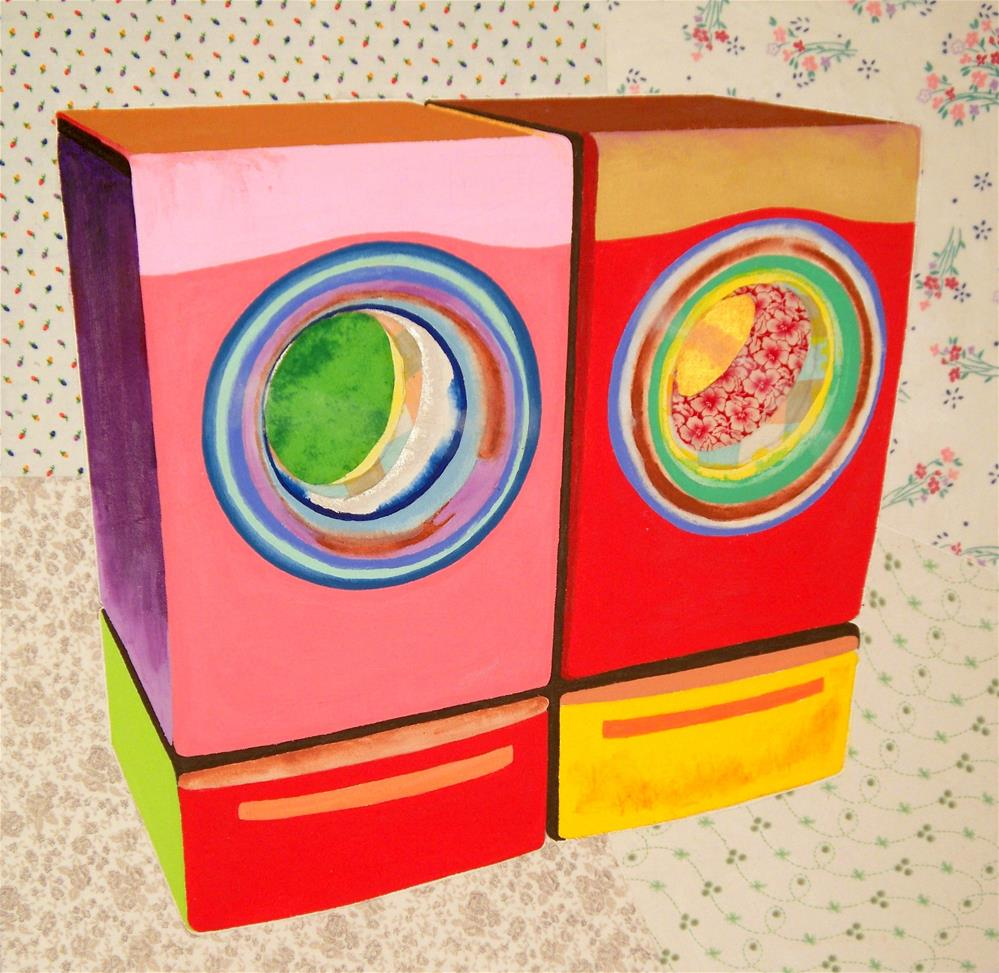 """Washer and Dryer"" original fine art by Lisa Fulton"