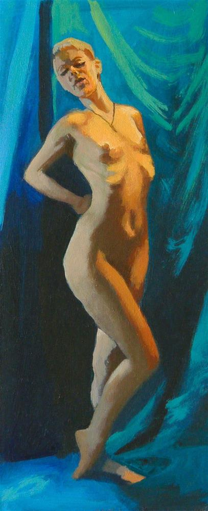 """Standing"" original fine art by Peter Orrock"