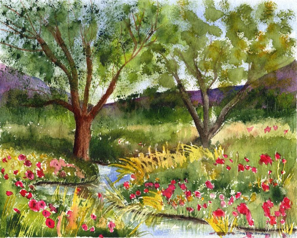 """Countryside"" original fine art by Janet Graham"