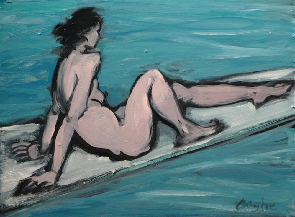 """Nude on Diving Board"" original fine art by Angela Ooghe"