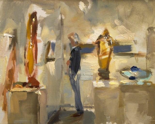 """Exhibit paintings and glass sculptures - Achter de Zuilen"" original fine art by Roos Schuring"