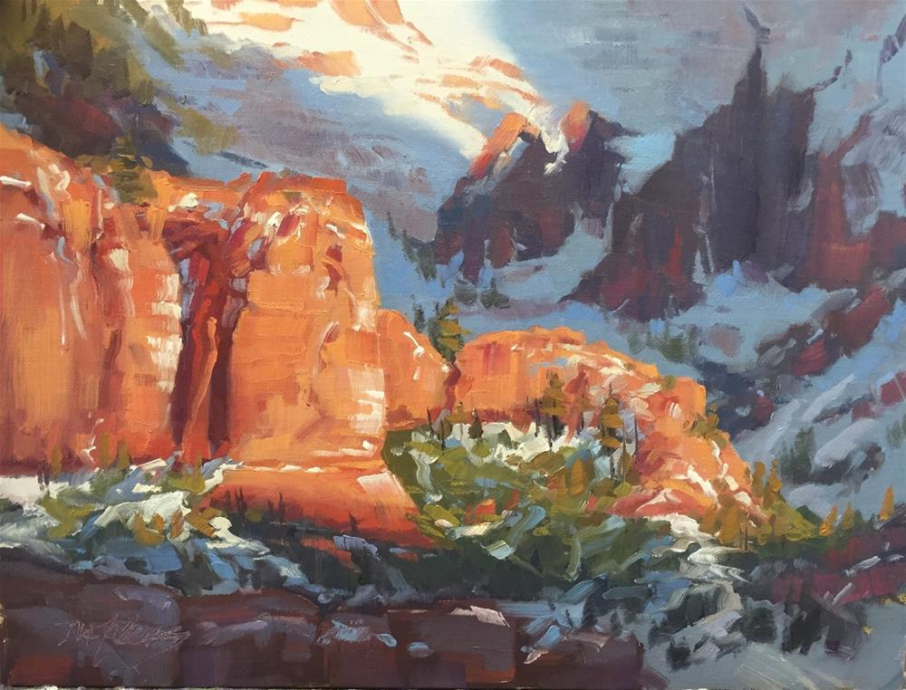 """First Snow - Kolob Canyons"" original fine art by Mary Jabens"