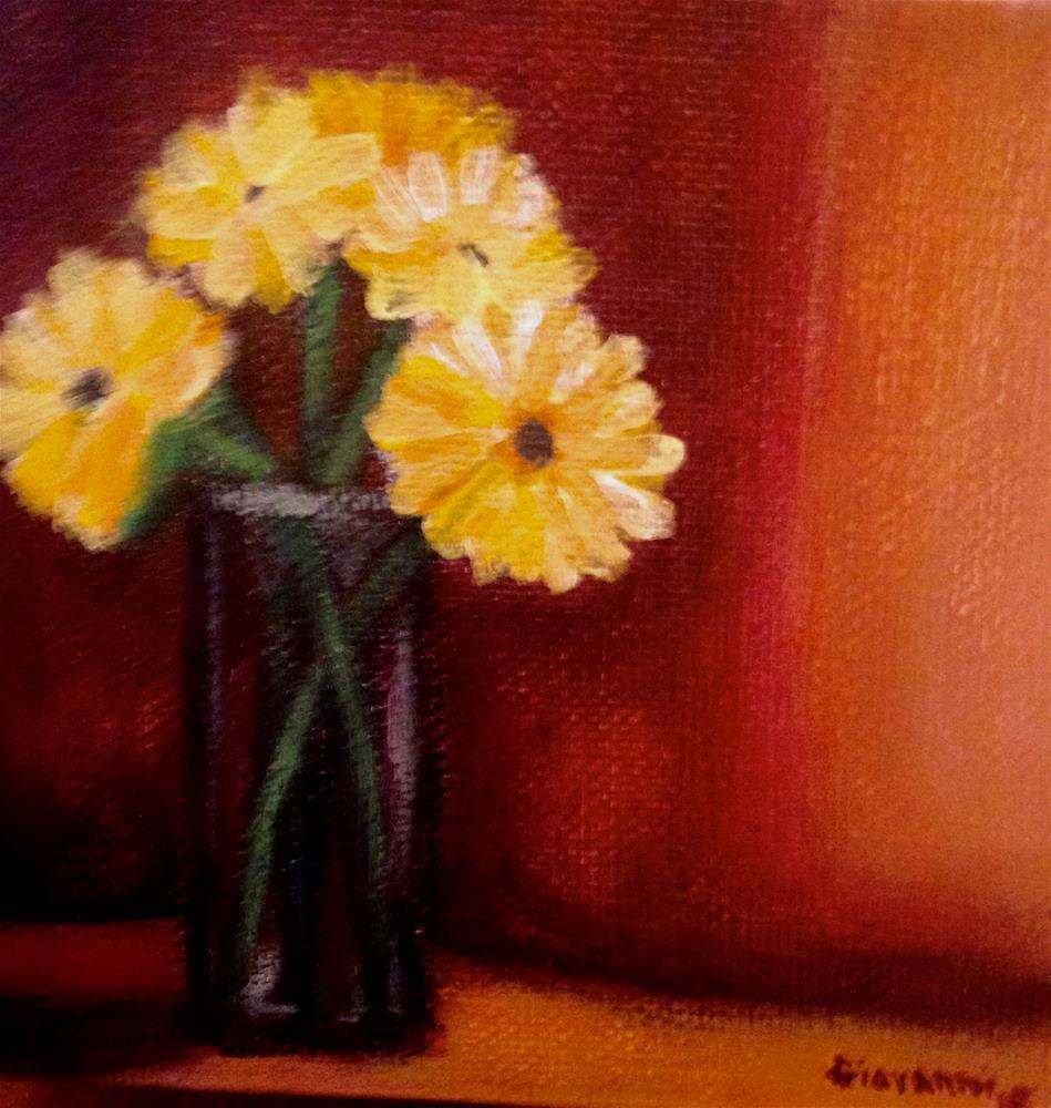 """Gerbera Daisies"" original fine art by Giovanni Antunez"