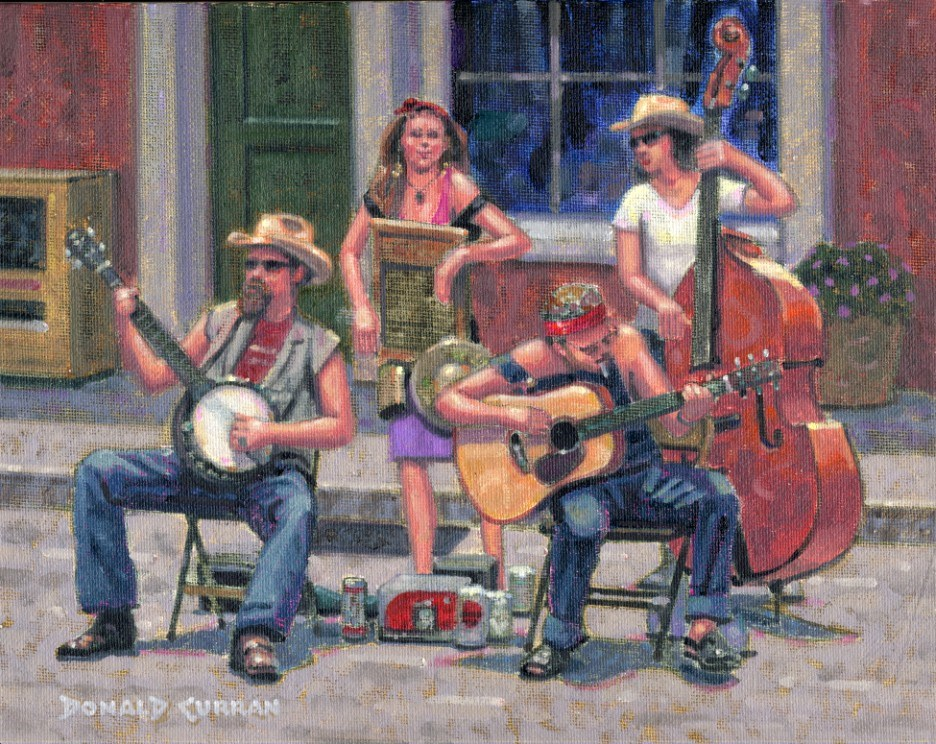 """New Orleans Street Music"" original fine art by Donald Curran"