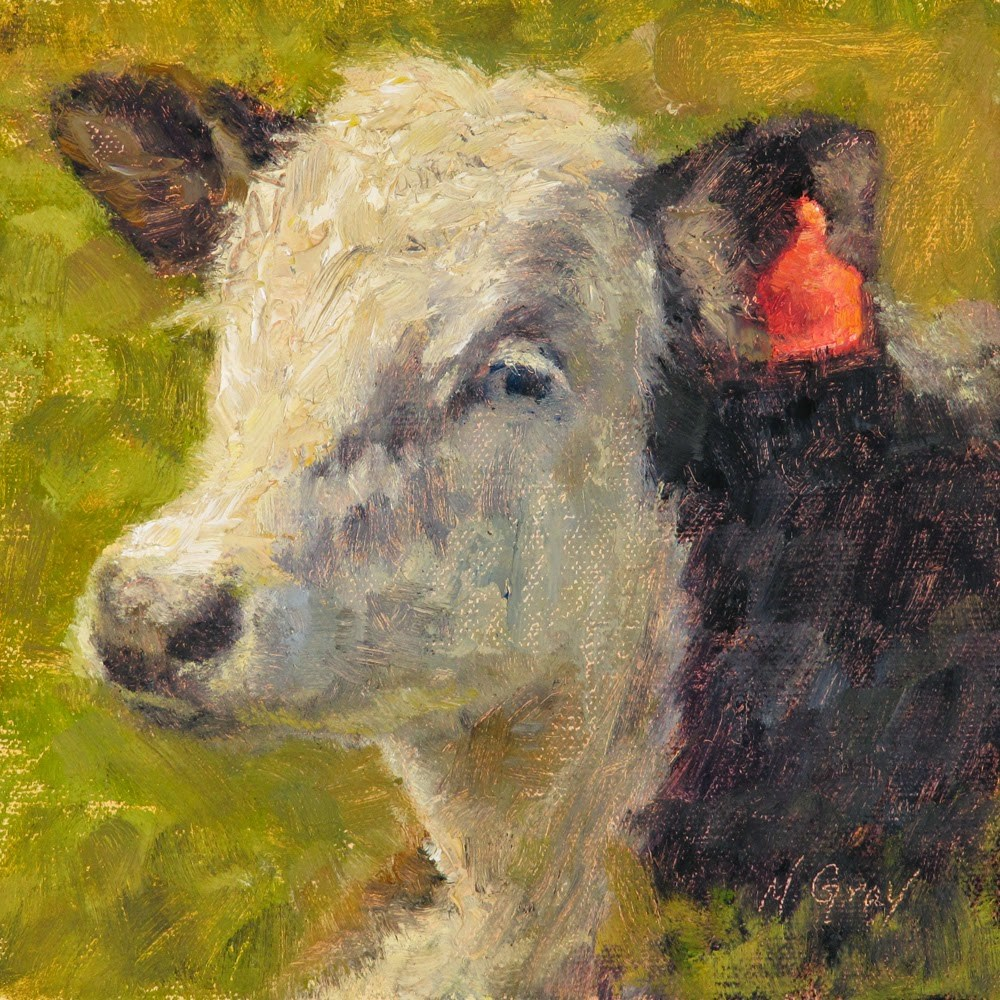 """Lisa the Cow"" original fine art by Naomi Gray"