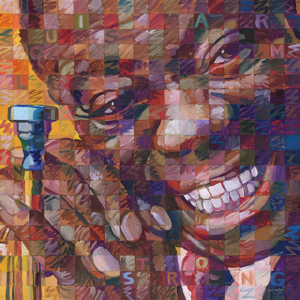 """Louis Armstrong"" original fine art by Randal Huiskens"
