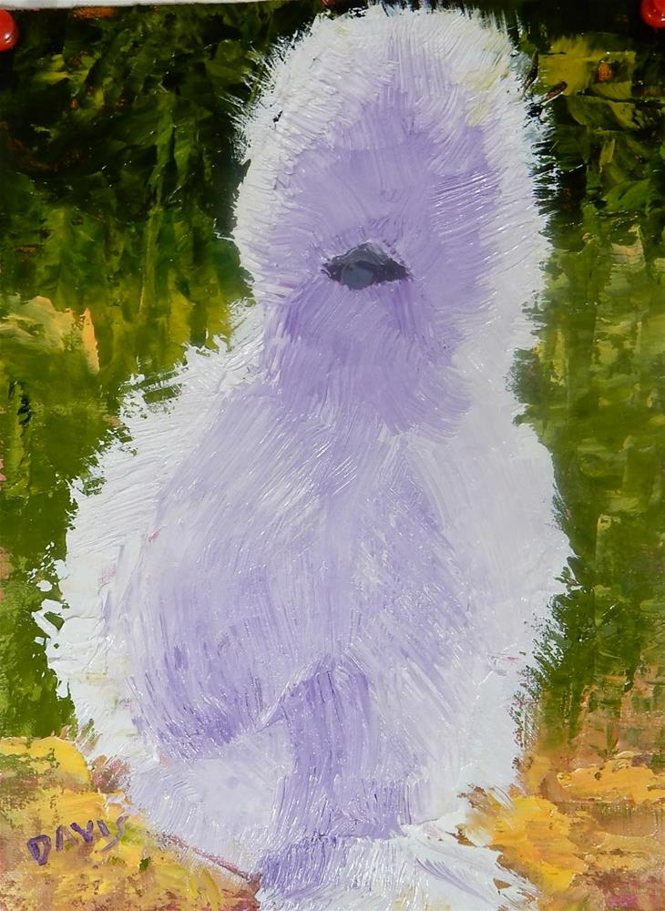 """Yes, I am a chicken!"" original fine art by Phyllis Davis"