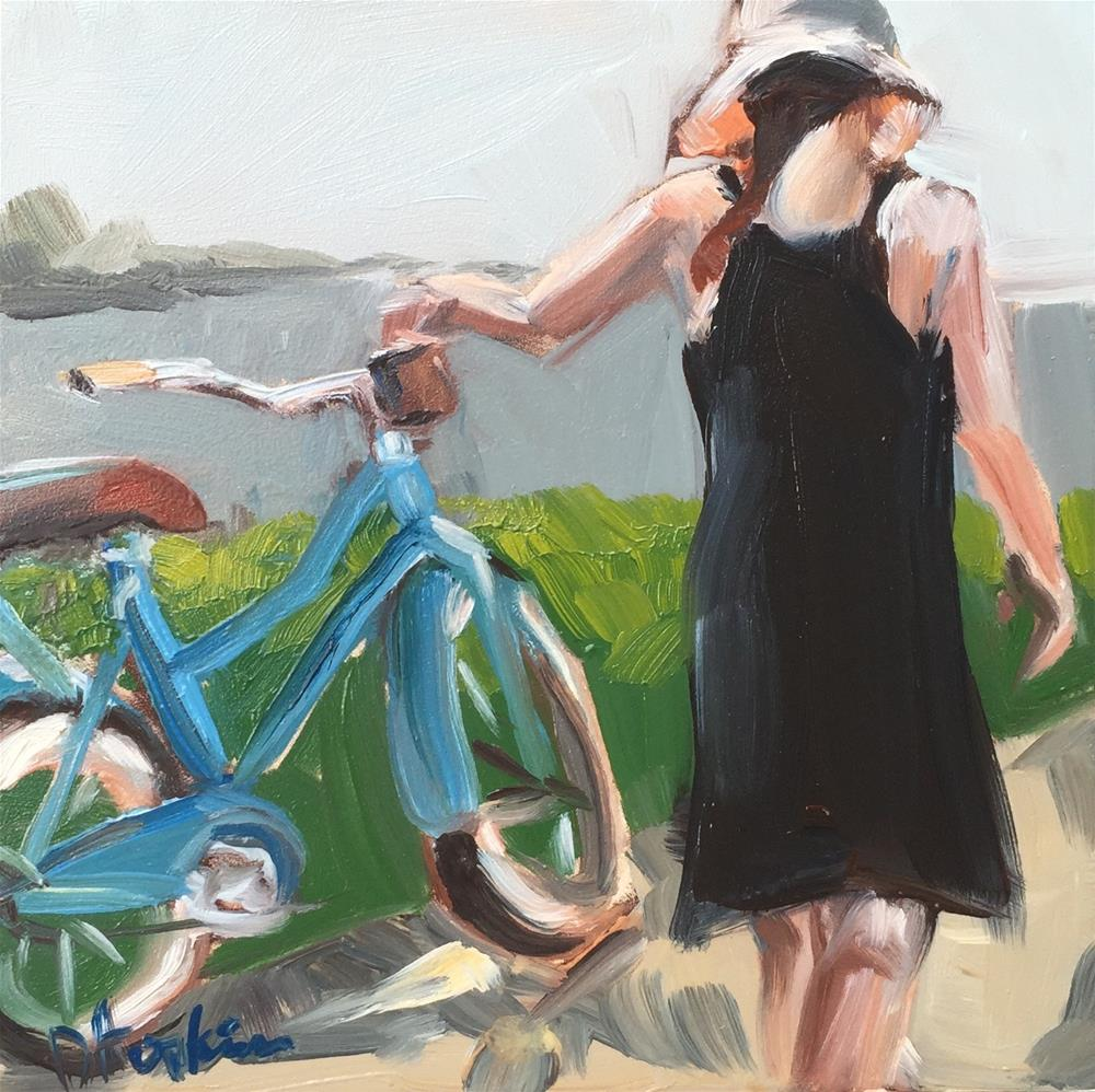 """A Girl's Best Friend"" original fine art by Denise Hopkins"