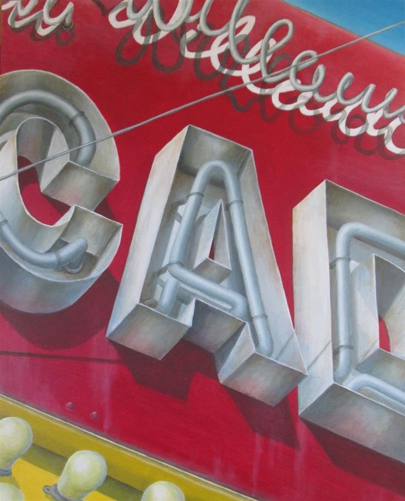 """Arcade Lights"" original fine art by Debbie Shirley"
