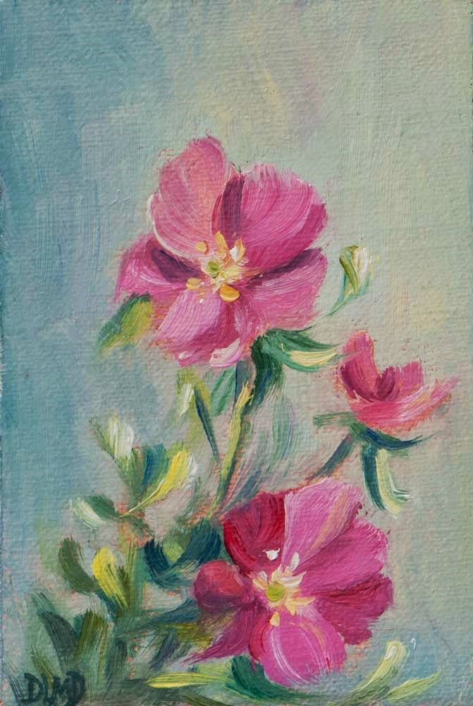 """30 in 30 Challenge, Day 3, A Cheery Presence "" original fine art by Debbie Lamey-Macdonald"