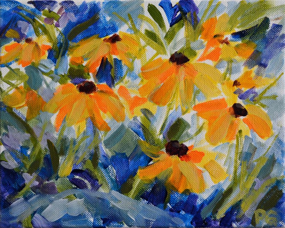 """Black Eyed Susans"" original fine art by Pamela Gatens"
