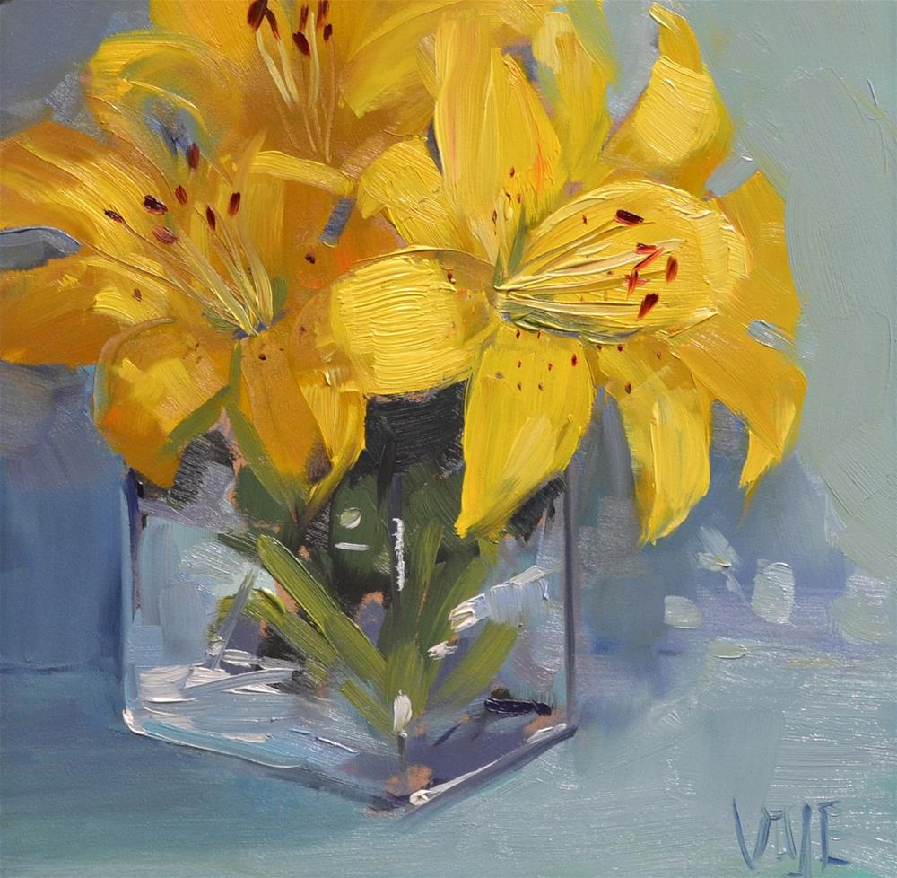 """#112 Garden Lilies"" original fine art by Patty Voje"