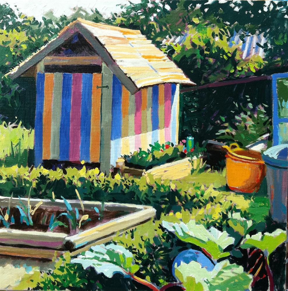 """Ice cream shed"" original fine art by Haidee-Jo Summers ROI"