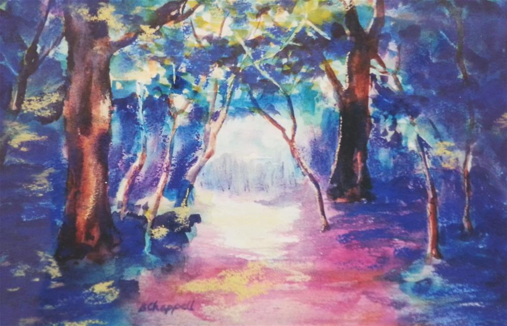 """Deep Woods"" original fine art by Becky Chappell"