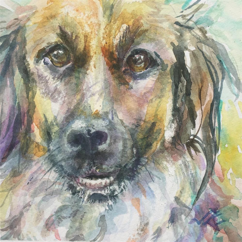 """Good Dog"" original fine art by Jean Krueger"