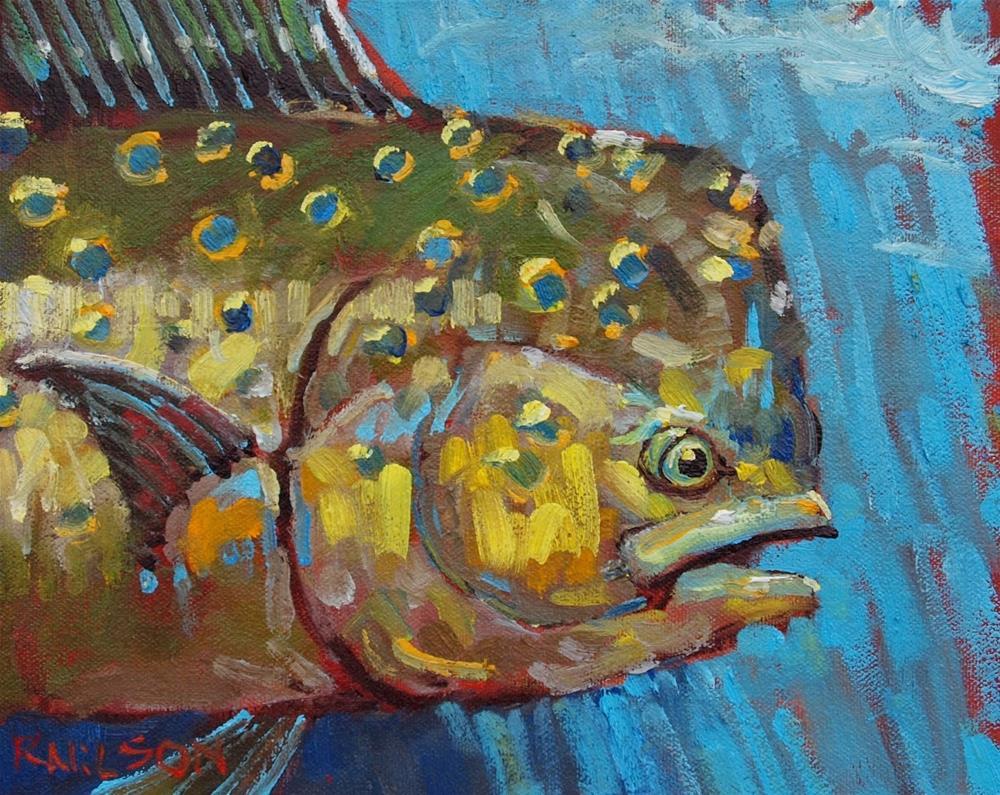 """Dolphin"" original fine art by Rick Nilson"